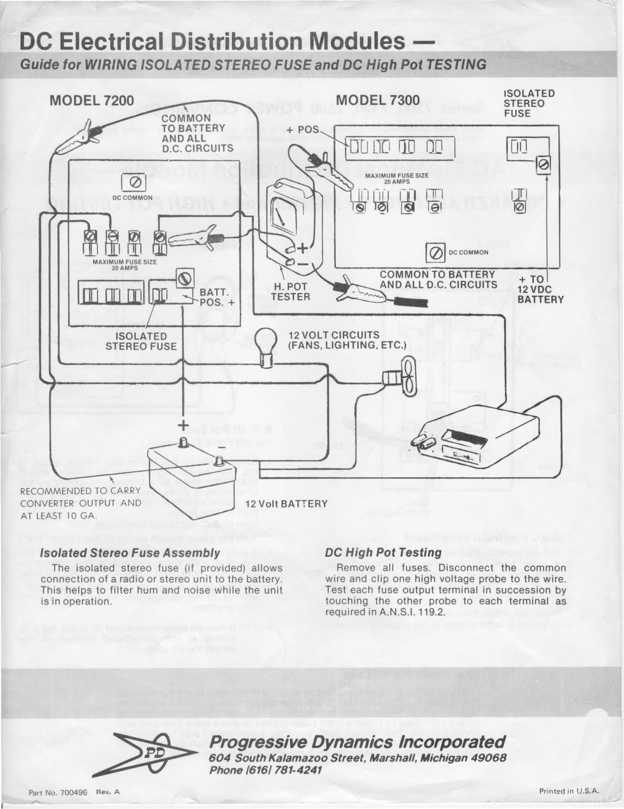 hight resolution of 83 pace arrow power converter manual